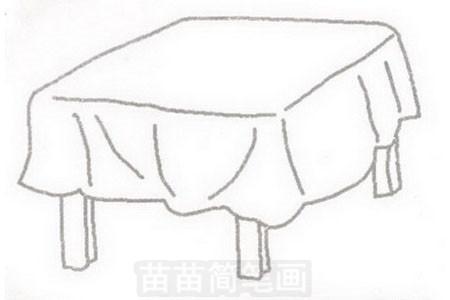 桌子简笔画图片步骤三
