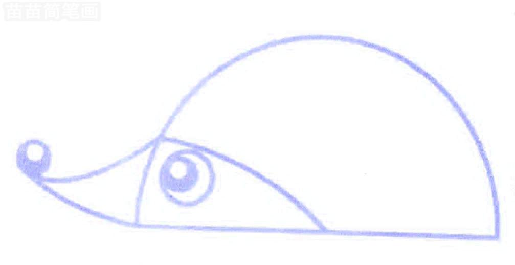 刺猬简笔画怎么画