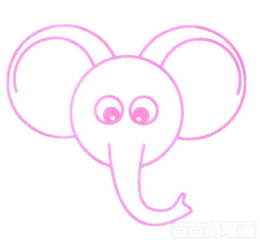 大象头简笔画 大象头简笔画正面图片 大象头简笔画图片大全集