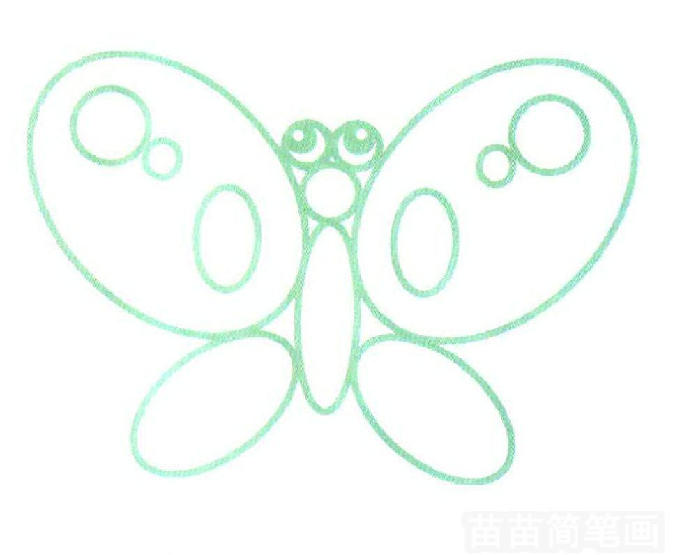 蝴蝶简笔画怎么画