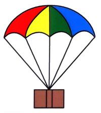 降落伞简笔画怎么画