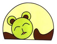 用图形组成的懒猫睡觉简笔画怎么画