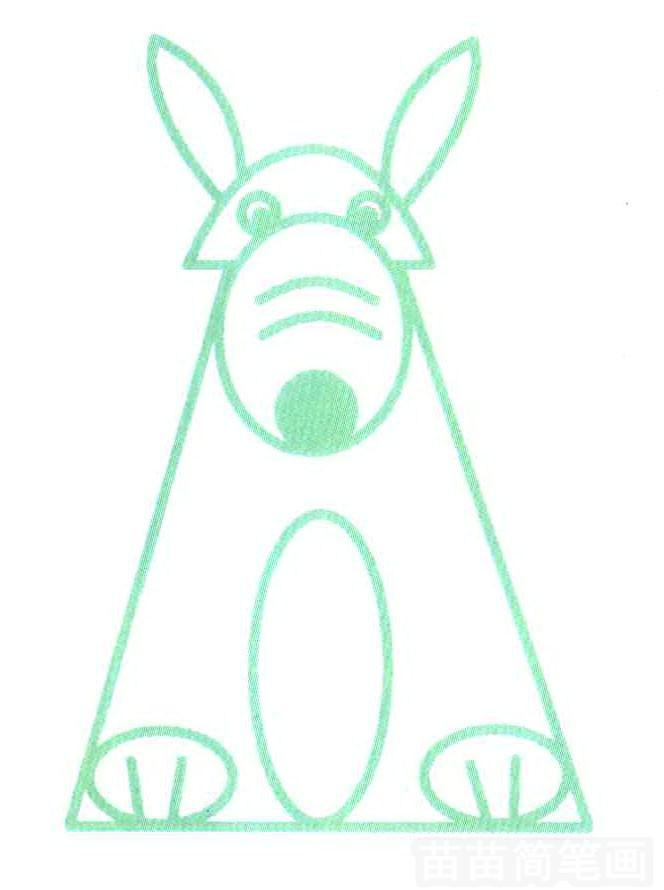 卡通图形狼简笔画怎么画