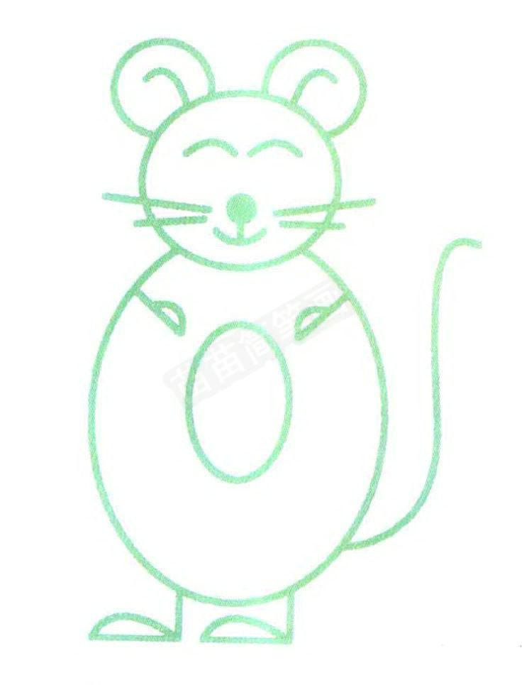 老鼠简笔画怎么画