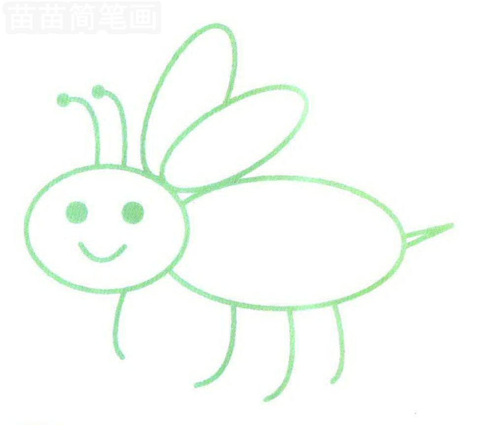 蜜蜂简笔画怎么画