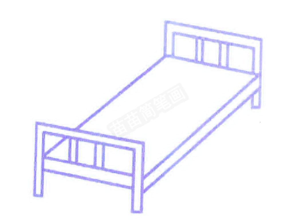 床简笔画怎么画
