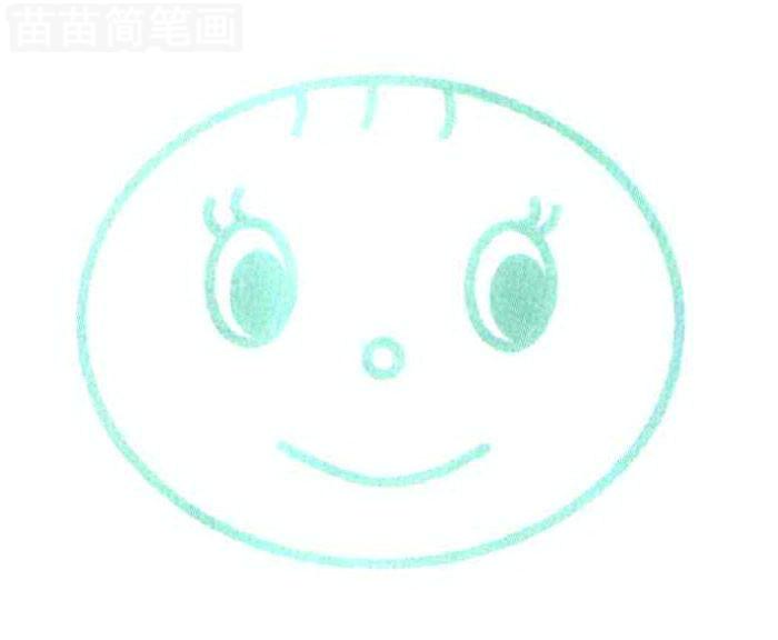 女孩简笔画怎么画