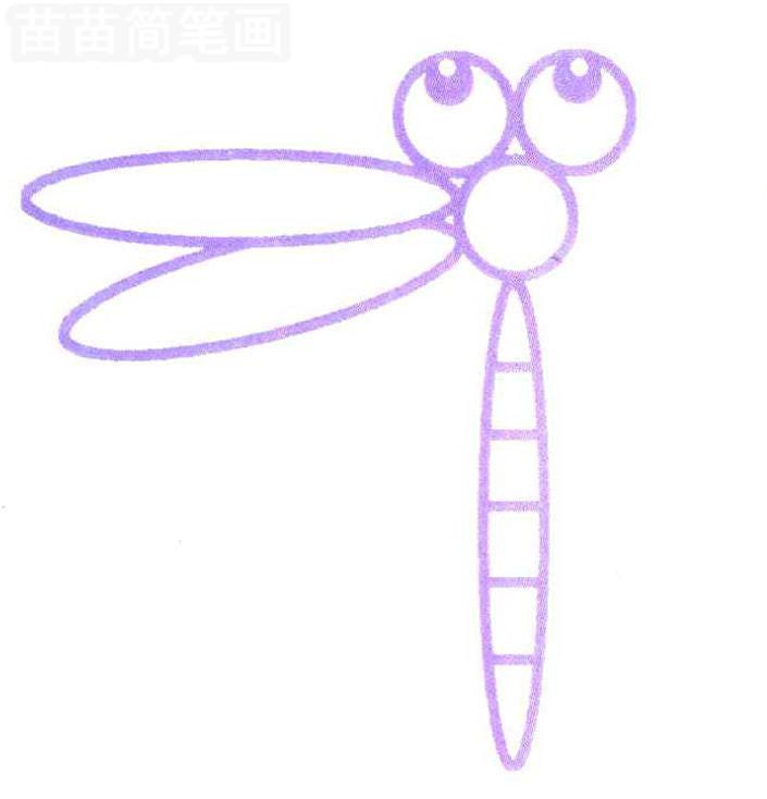 蜻蜓简笔画怎么画