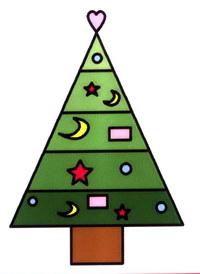 圣诞树简笔画怎么画