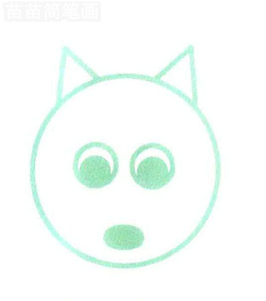 用图形组成的松鼠简笔画怎么画