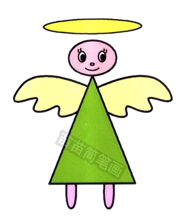 小天使简笔画怎么画