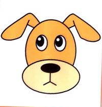 狗的头像简笔画怎么画