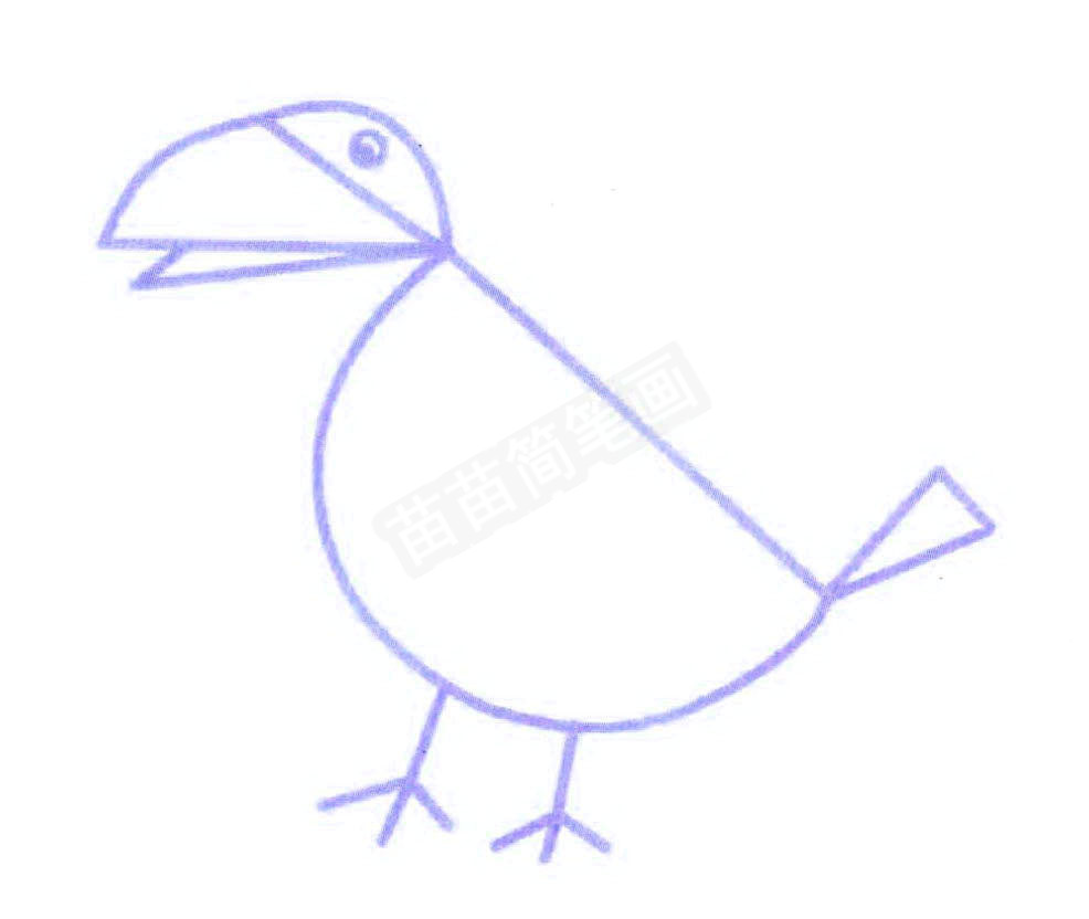 用图形组成的乌鸦简笔画怎么画