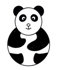 熊猫简笔画怎么画