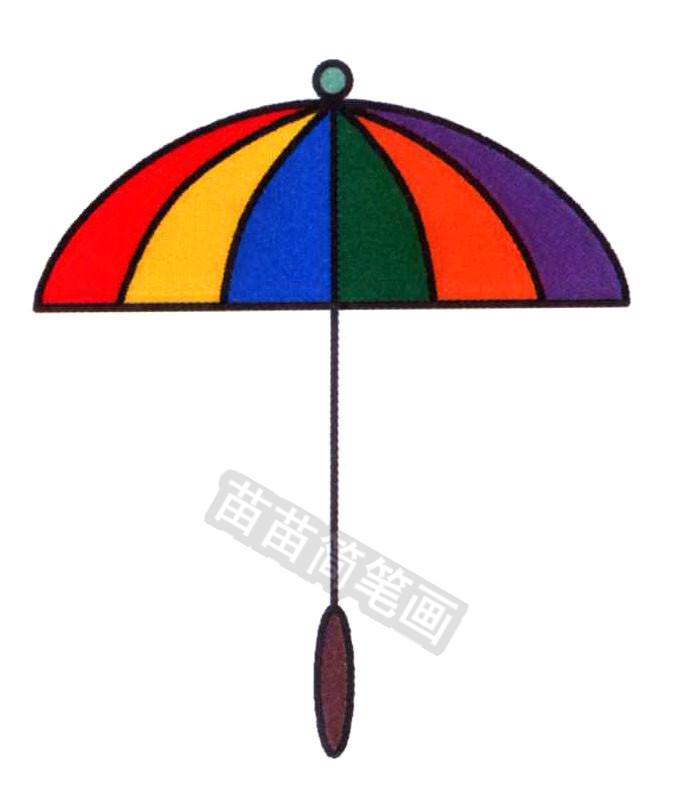 雨伞简笔画怎么画