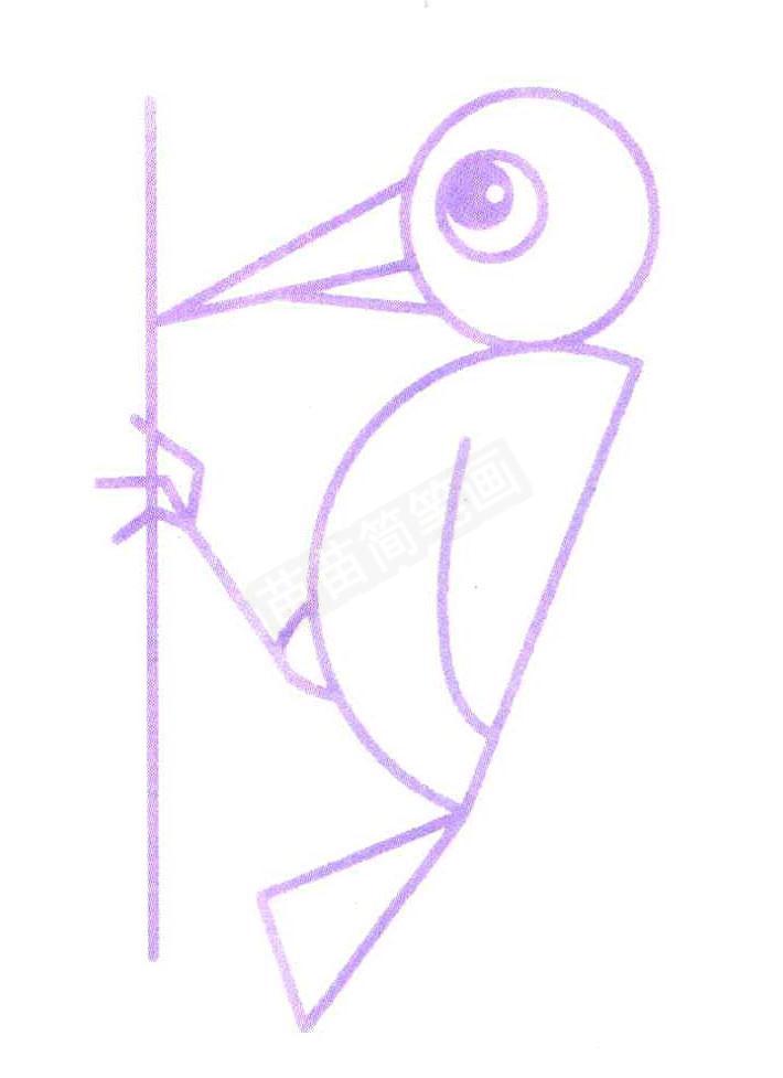 6,画出直线做树枝.最后给它填上漂亮的颜色吧.图片