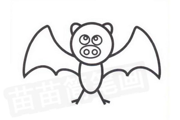 简笔画 动物简笔画 其他动物简笔画 >> 正文内容   画蝙蝠分四个步骤