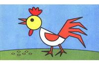 公鸡简笔画怎么画