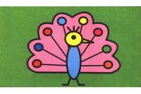 孔雀简笔画步骤分解彩色教程