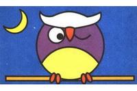 猫头鹰简笔画步骤分解彩色教程