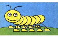 毛毛虫简笔画步骤分解彩色教程