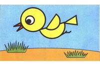 小鸟简笔画步骤分解彩色教程