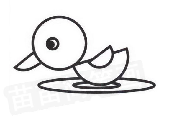 小鸭简笔画怎么画
