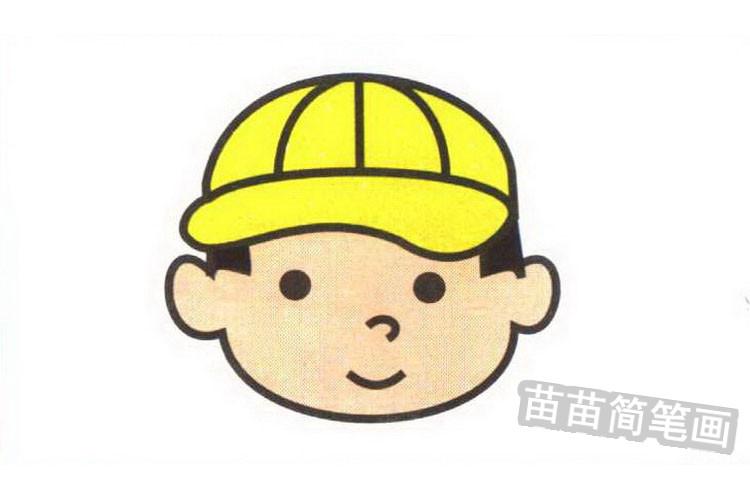 棒球手彩色简笔画图片