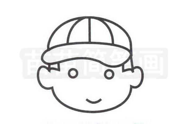 棒球手简笔画怎么画步骤三