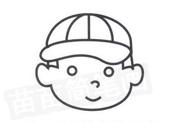 棒球手简笔画怎么画步骤四