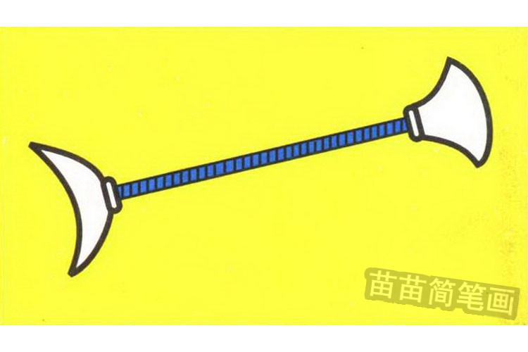 禅杖彩色简笔画图片