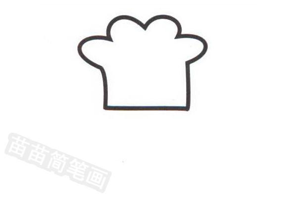 厨师简笔画怎么画步骤一