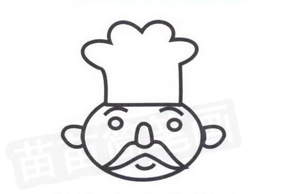 厨师简笔画怎么画步骤四
