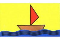 帆船简笔画步骤分解彩色教程