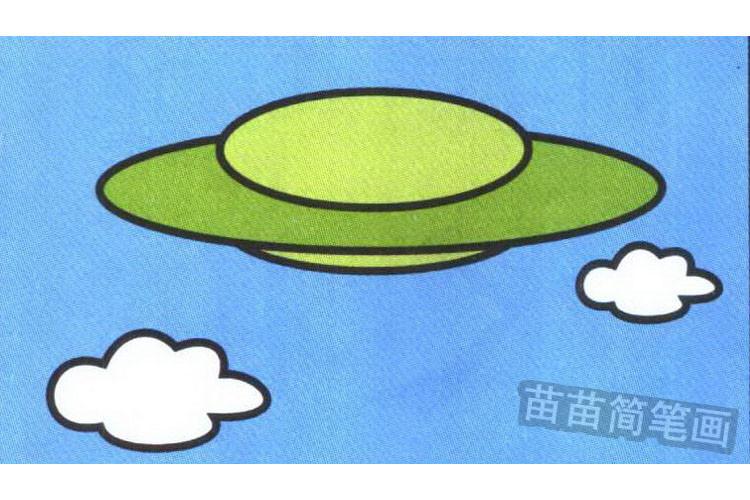 飞碟彩色简笔画图片