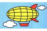 飞艇简笔画怎么画