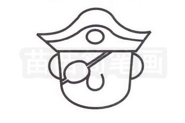 海盗简笔画怎么画步骤三