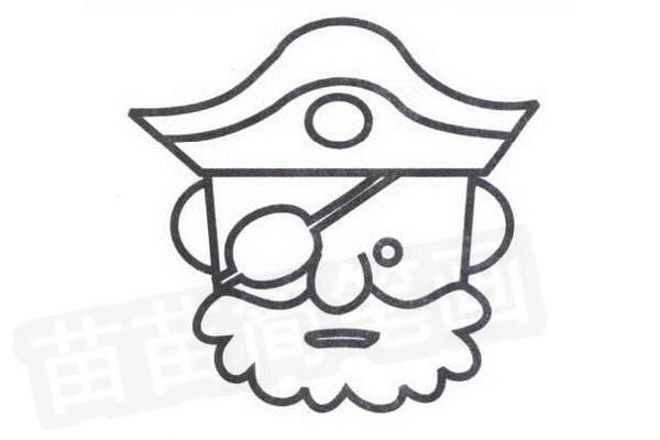 海盗简笔画怎么画步骤四