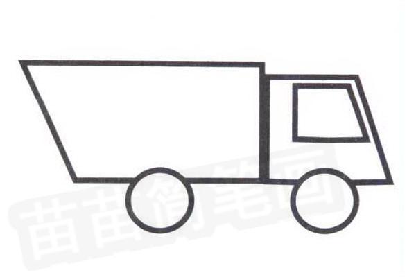 垃圾车简笔画怎么画