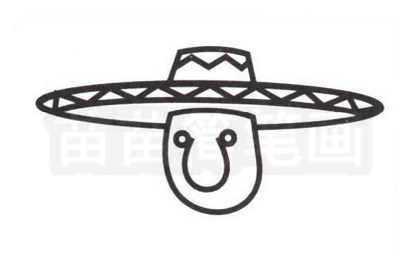 墨西哥人简笔画怎么画步骤三