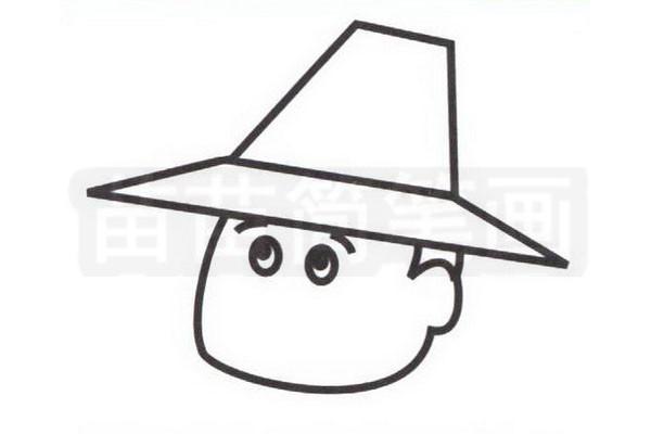 农民简笔画怎么画