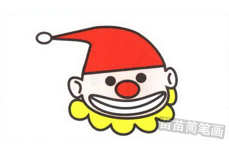 小丑彩色简笔画图片