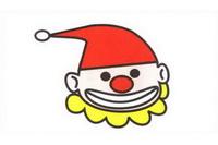 小丑简笔画步骤分解彩色教程