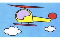 直升机简笔画步骤分解彩色教程
