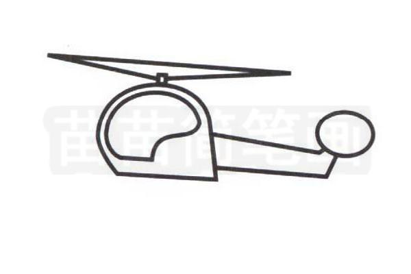 直升机简笔画步骤分解彩色教程步骤三