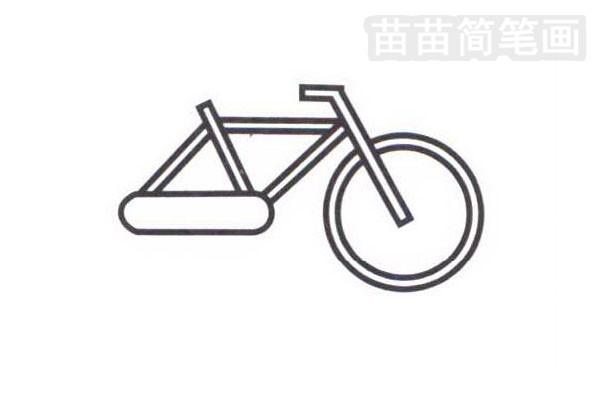 自行车简笔画怎么画步骤二