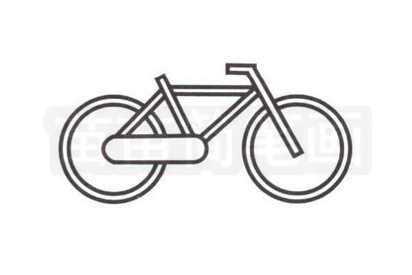 自行车简笔画怎么画步骤三