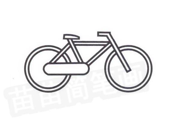 自行车简笔画怎么画步骤四