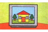 电视机简笔画步骤分解彩色教程