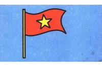红旗简笔画怎么画